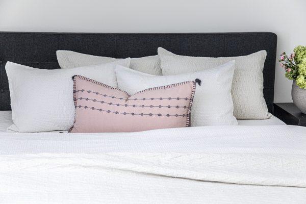 Fleur decorative pillow from Donny Osmond Home design