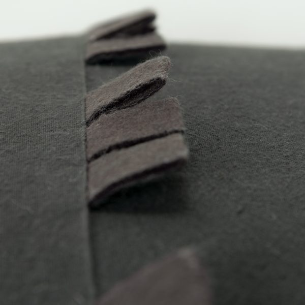 Close up of felt loop rows